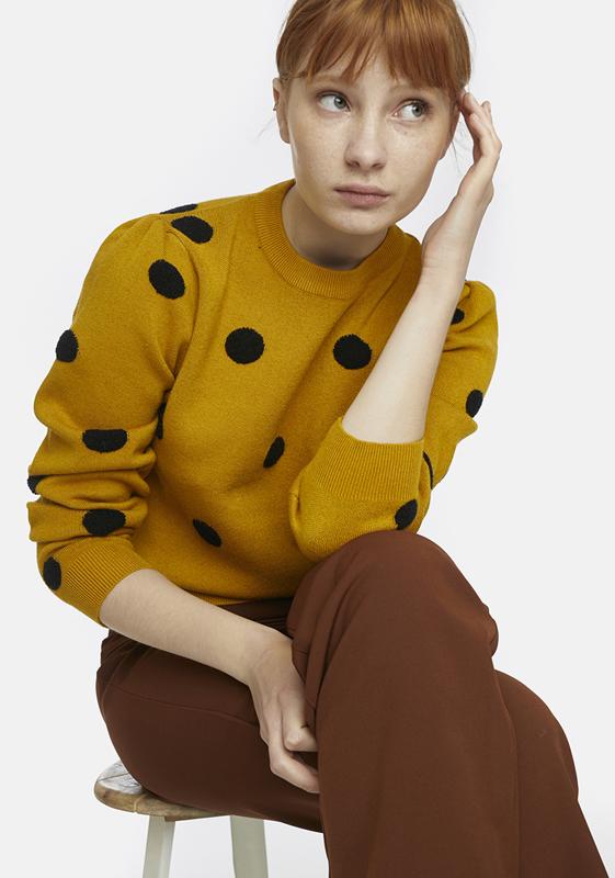 jersey-amarillo-topos-negros