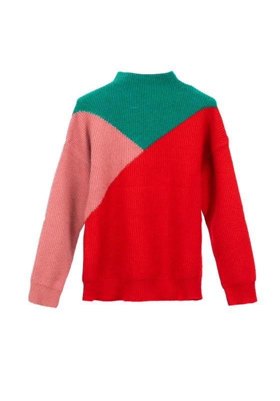 jersey-punto-grueso-tricolor-verde-rosa-rojo