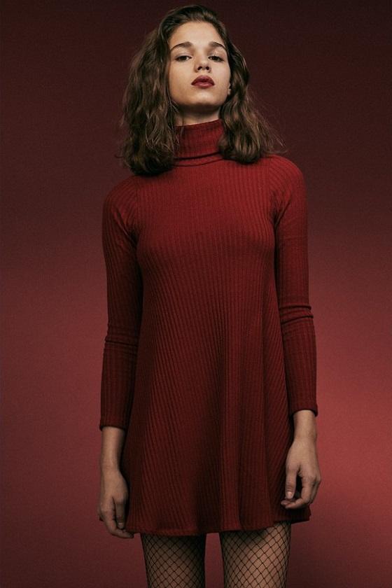vestido-cuello-alto-rojo