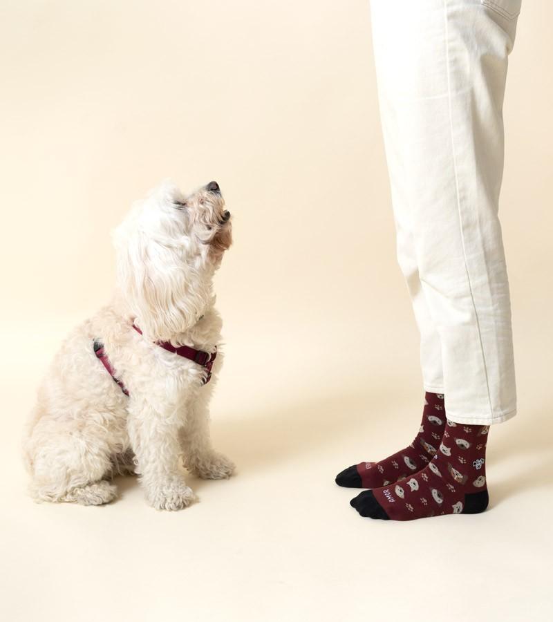 calcetines-algodon-amor-perruno-granate