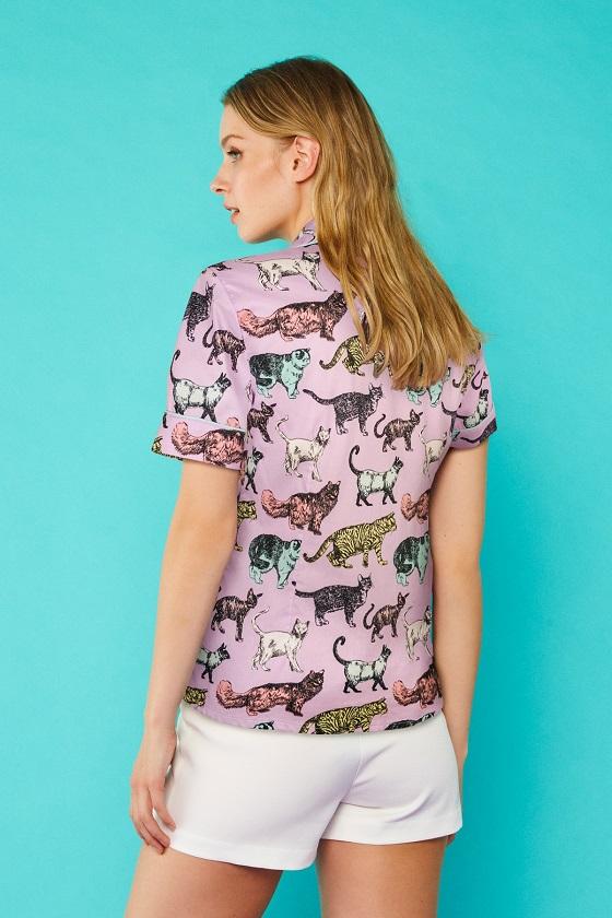 camisa-mangas-cortas-gatos