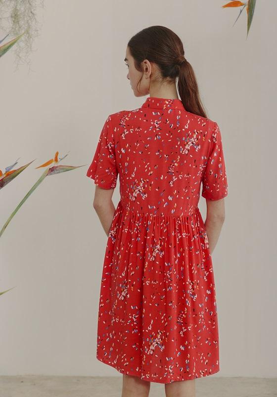 vestido-aoba-rojo-mangas-cortas