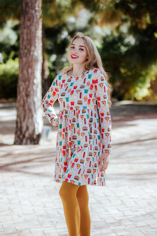 vestido-corto-snacks-print-pizza