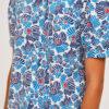 camisa-estampado-flores-azules