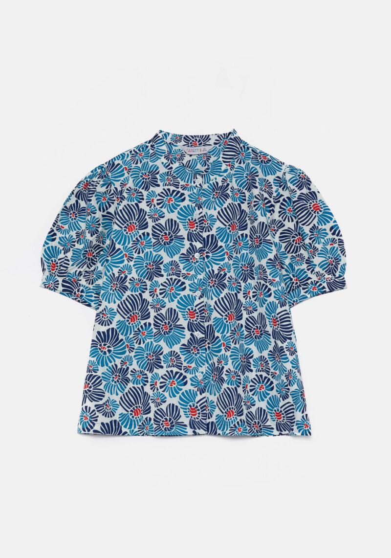 camisa-mangas-cortas-estampado-flores
