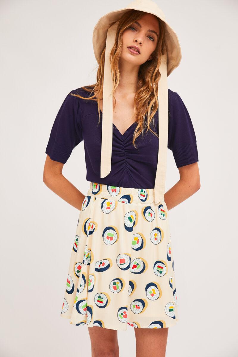 falda-estampado-sushi
