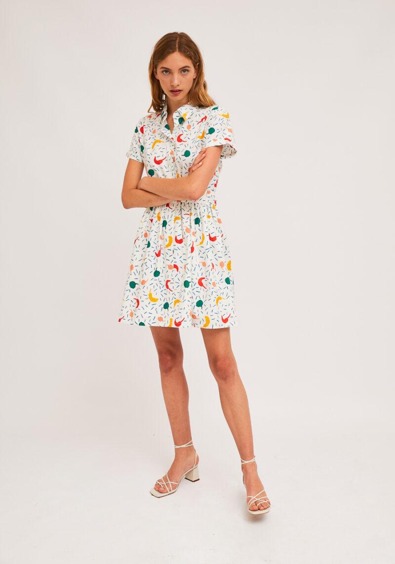 vestido-corto-estampado-pimientos-mangas-cortas