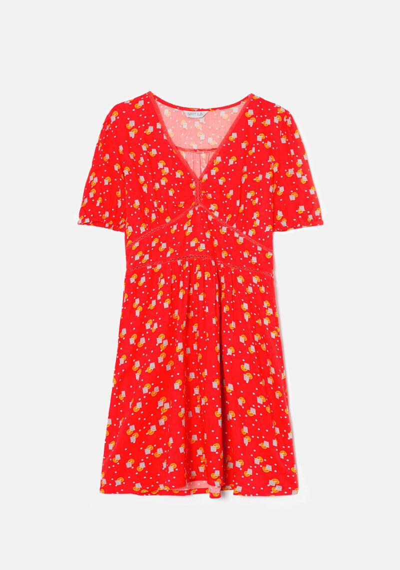 vestido-corto-mangas-cortas-naranjada