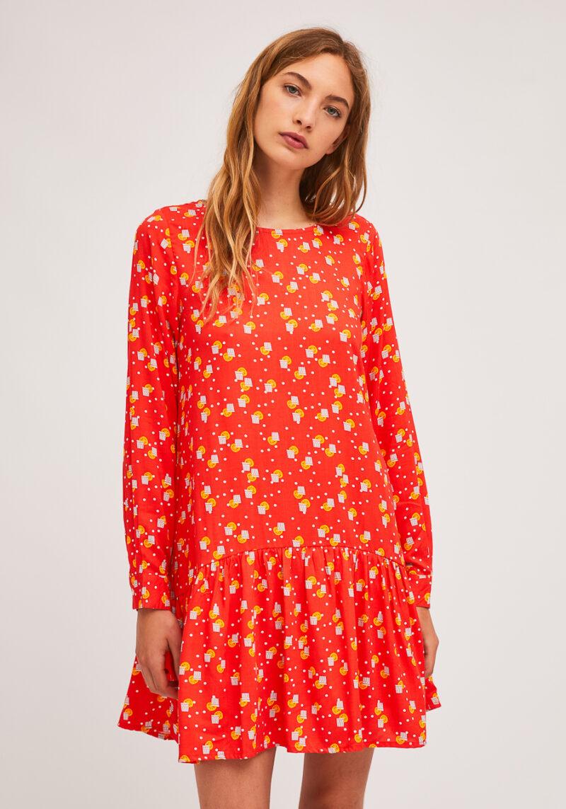vestido-corto-mangas-largas-naranjada