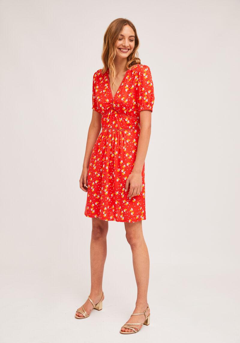 vestido-mangas-cortas-estampado-naranjada