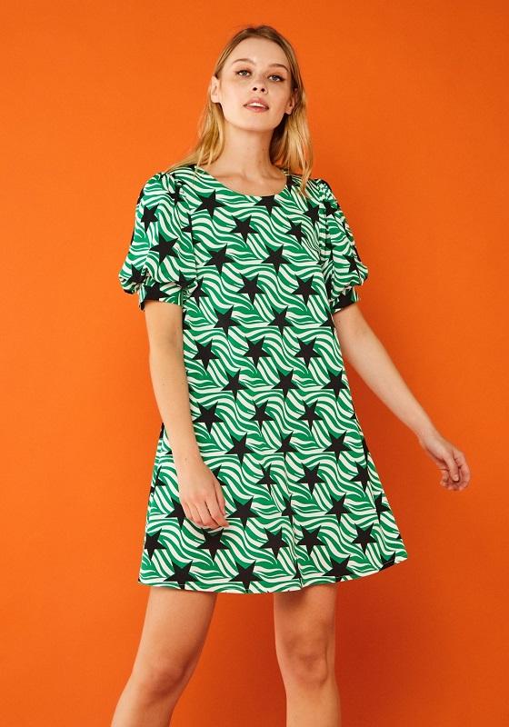 vestido-verde-estrellas-negras