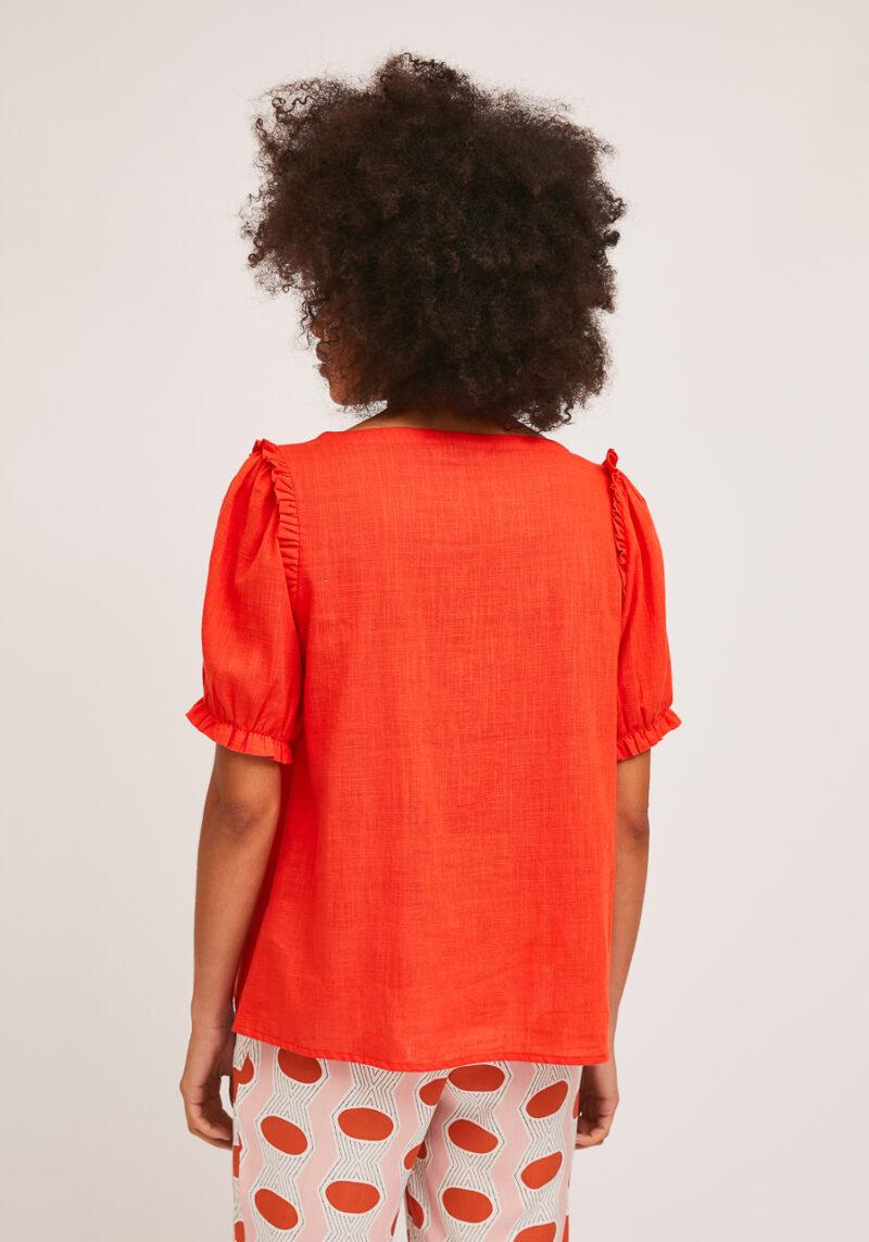 camisa-roja-mangas-abullonadas