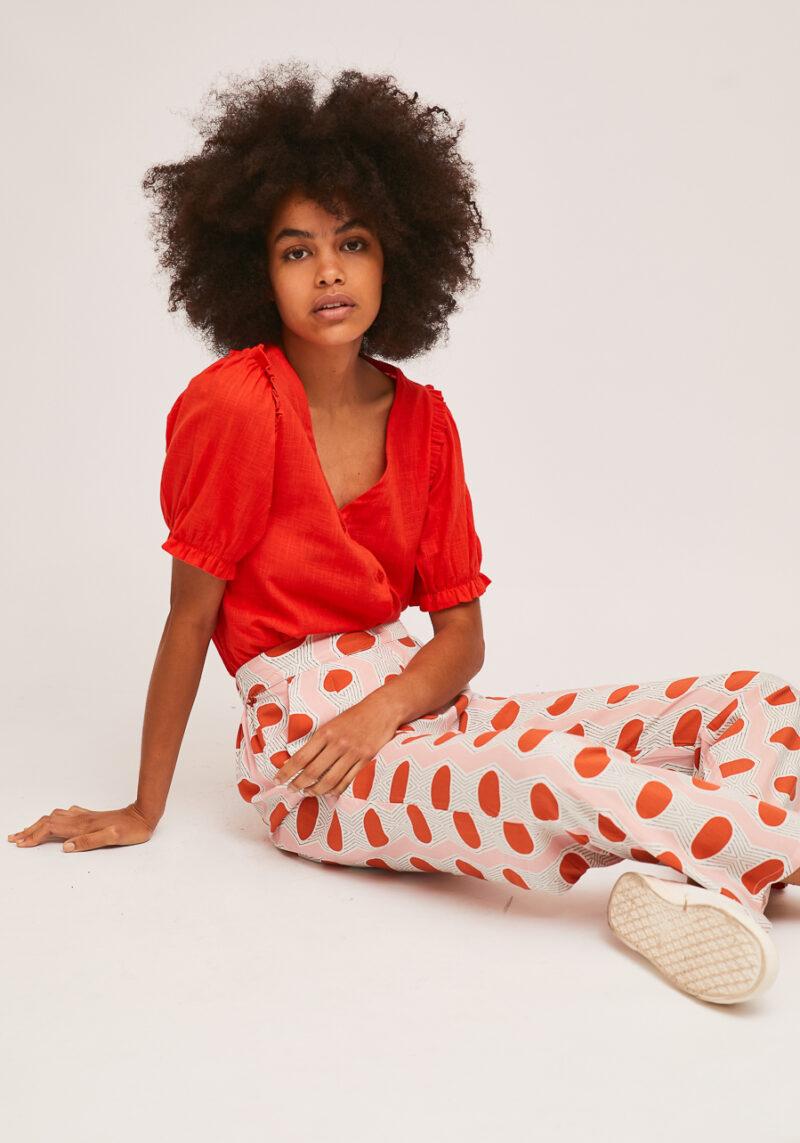 camisa-roja-mangas-abullonadas-rogelia