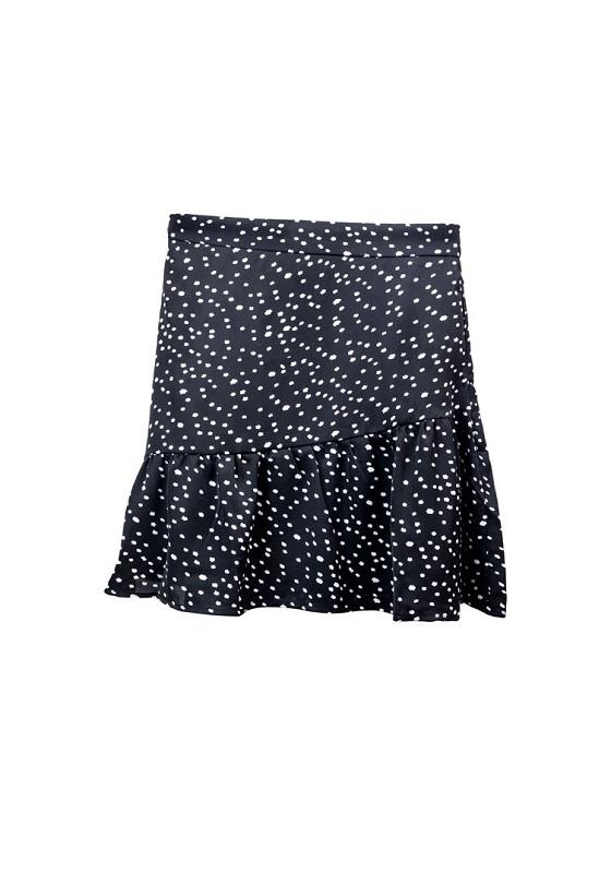 falda-volante-negro-topo-blanco