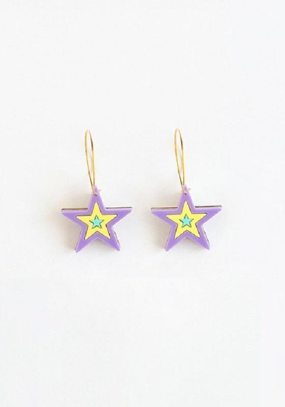 pendientes-estrella-colores-metacrilato-lila
