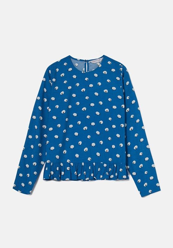 blusa-azul-estampado-pequeñas-ovejas