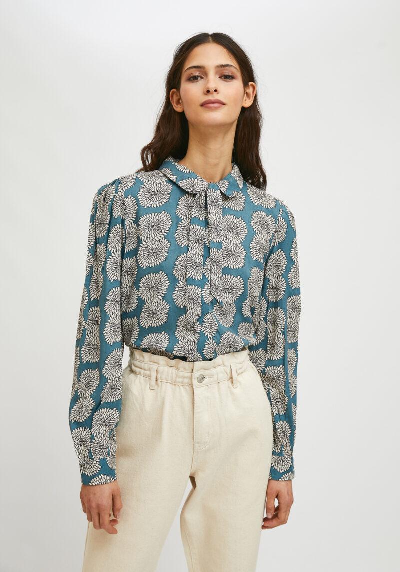 camisa-lazo-estampado-floral-crisantemo