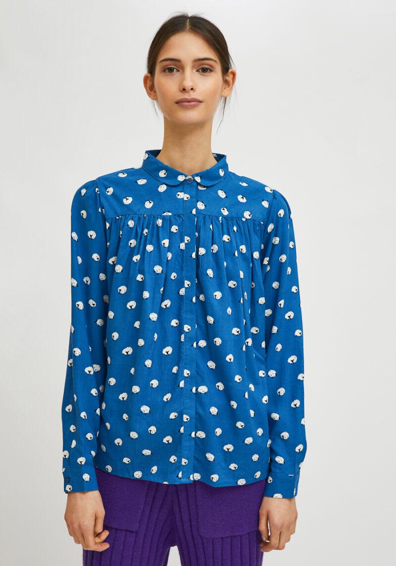 camisa-mangas-largas-azul-print-ovejas