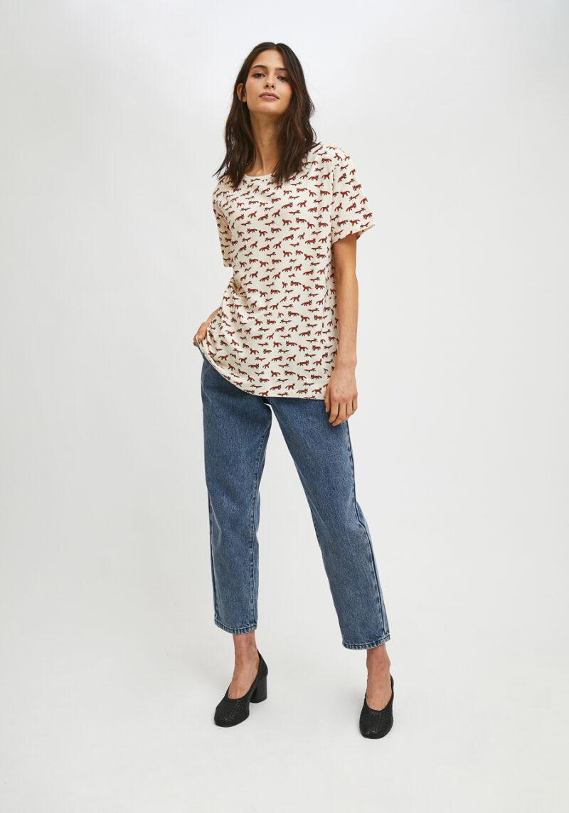 camiseta-blanca-estampado-zorros