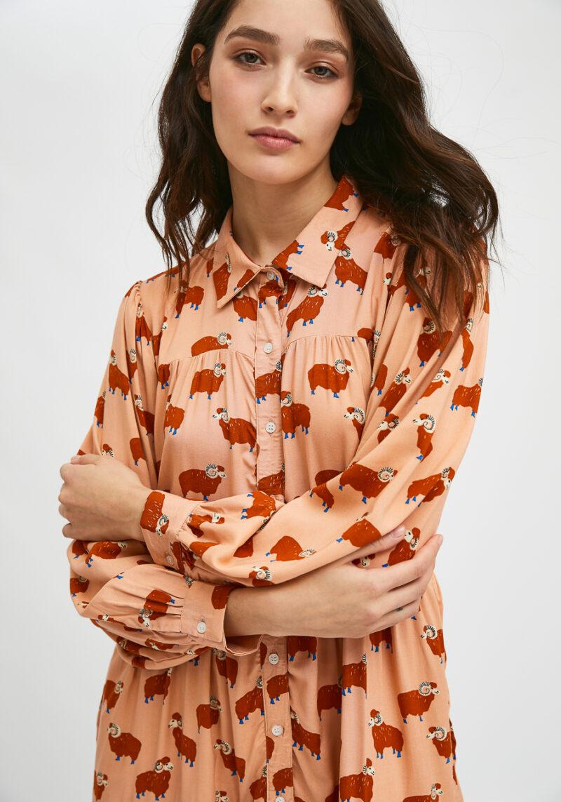 vestido-camisero-corto-animal-print-carnero