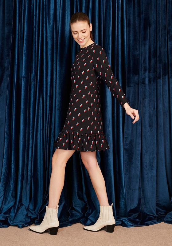 vestido-david-negro-rayos-rojo-azul