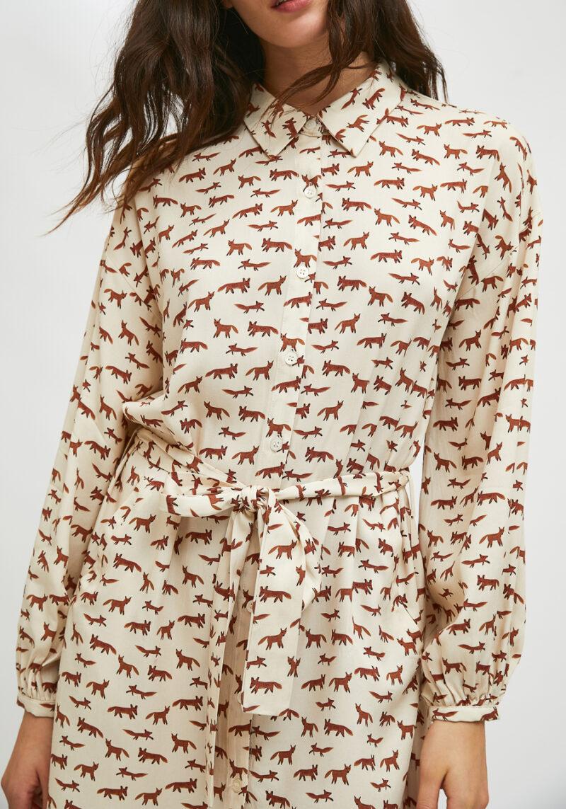 vestido-mangas-largas-estampado-zorros