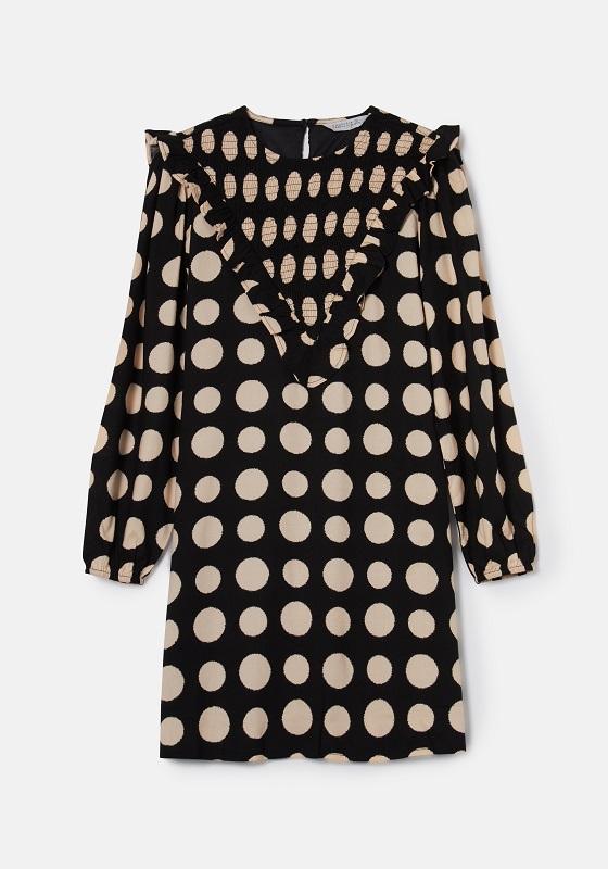 vestido-negro-topos-crudos-mangas-largas