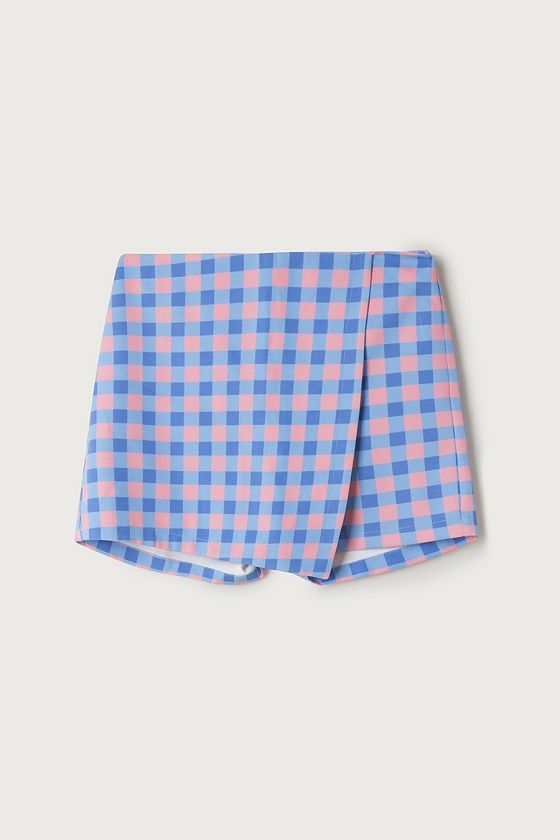 falda-pantalon-cuadros-vichy-rosa-azul