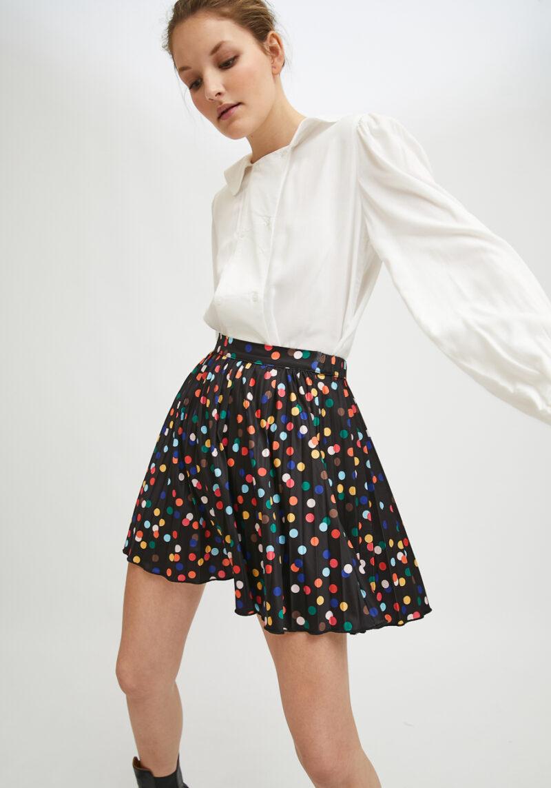 falda-corta-lunares-multicolor