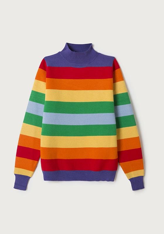 jersey-cuello-alto-rayas-colores-arcoiris