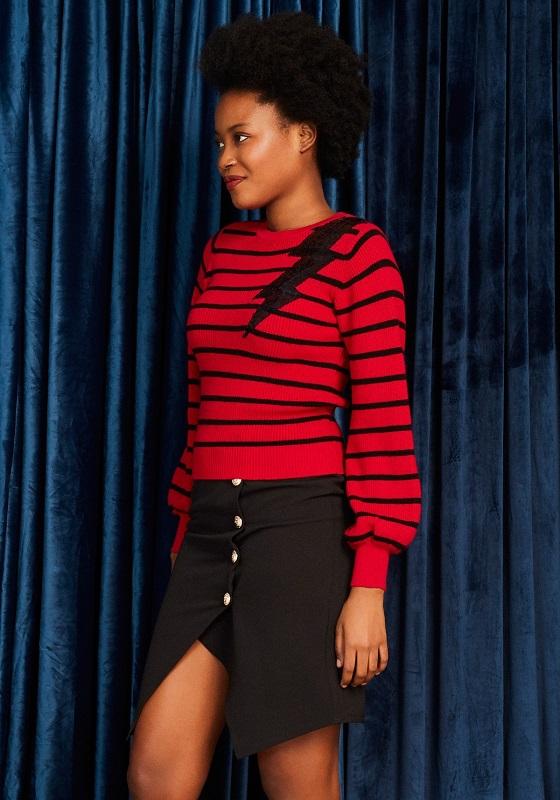 jersey-rayo-rojo-rayas-negras