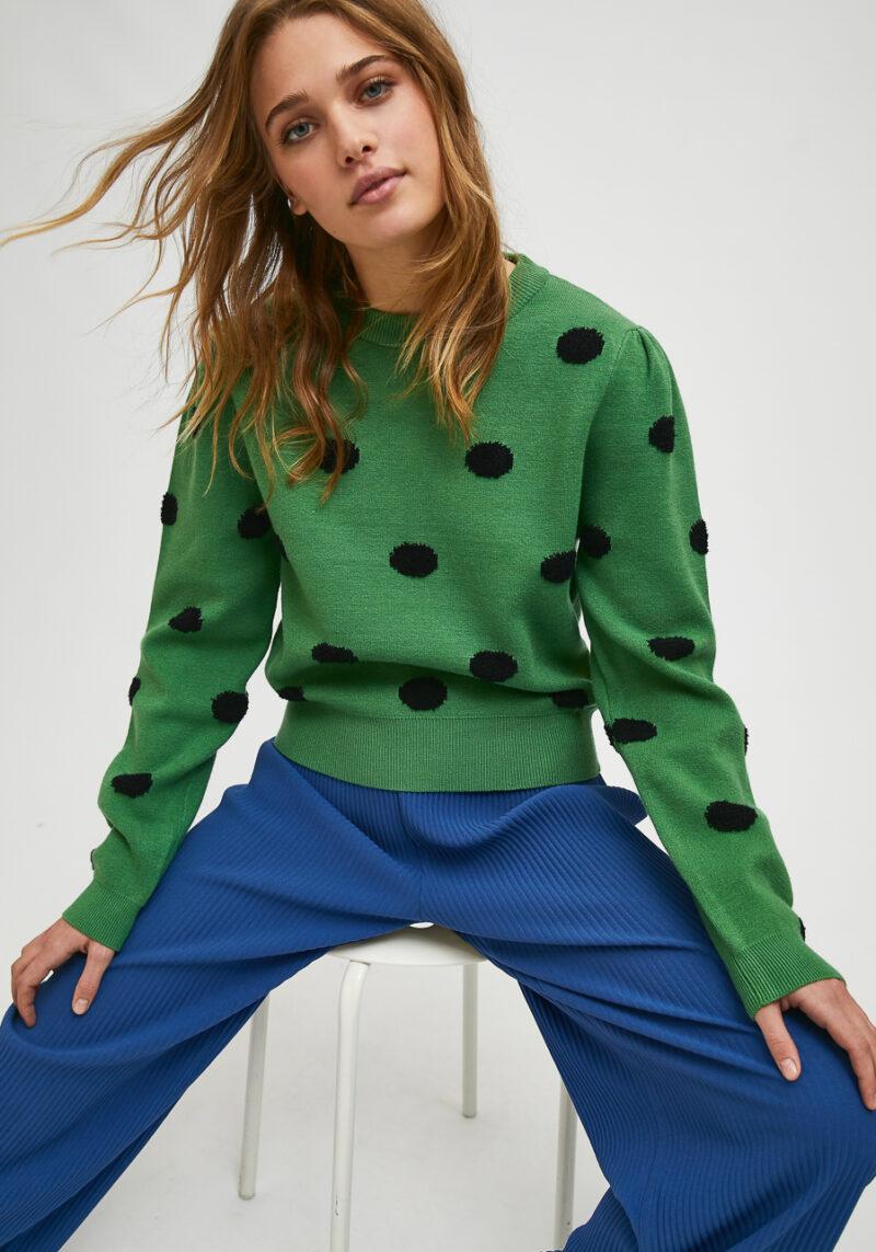 jersey-verde-topos-negros