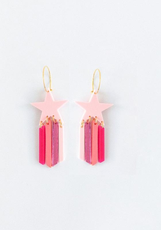 pendientes-estrella-metacrilato-rosa